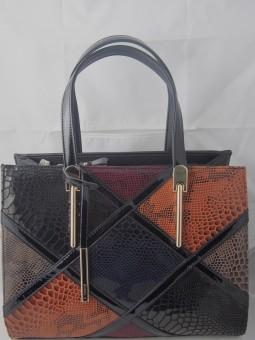 Дамска чанта с  цветни квадрати