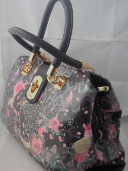 Луксозна чанта цветен принт