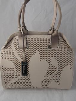 Бежова чанта с перфорации