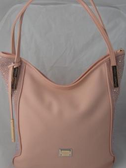 Розова чанта с камъни