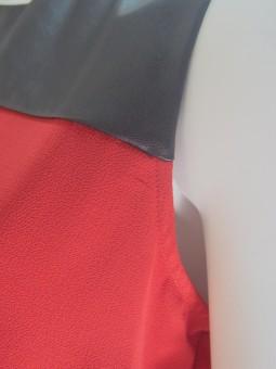 Червена туника без ръкав