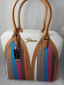 Чанта с цветни раета