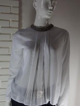 Риза със сребристи камъчета