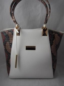 Чанта със змийски принт