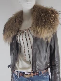 Естествена кожа дамско яке