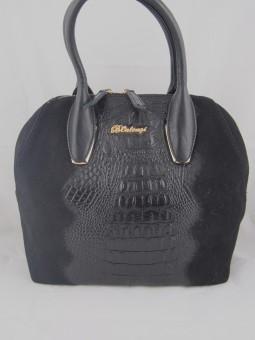 Луксозна чанта с крокодилска щампа