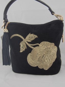 Малка чанта с златисто цвете