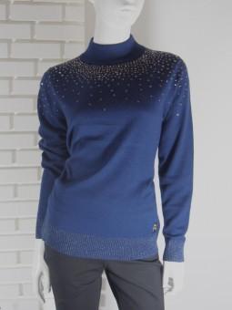 Пуловер дамски син
