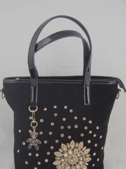 Чанта с камъни черна