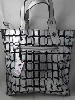 Дамска чанта в сребрист цвят