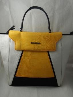 Чанта в трицветна комбиация