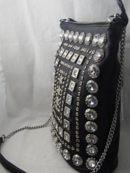 Чанта  дълга дръжка с ефектни елементи