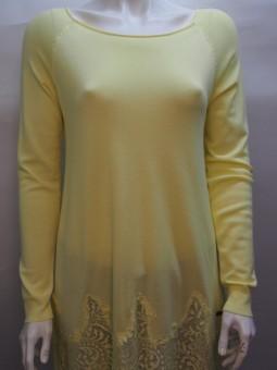 Дамска блуза с дълъг ръкав и дантела