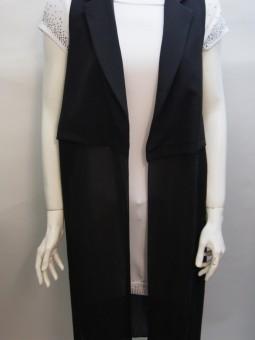Дамско сако от текстил и шифон