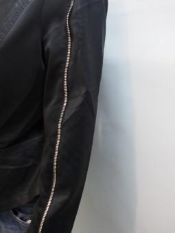 Дамско яке от кожа и текстил