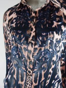 Леопардова дамска риза