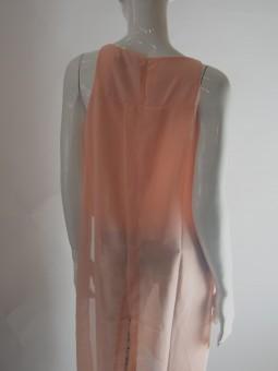 Дълга  туника цвят пудра