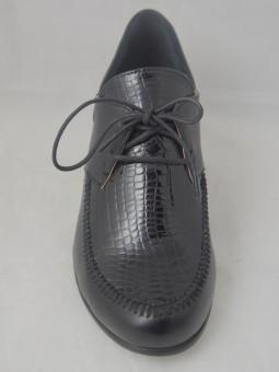 Ежедневна обувка в тъмносин  и черен цвят