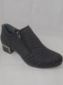 Ежедневна обувка на ток с два ципа
