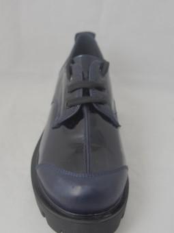 Тъмно сини кожени обувки